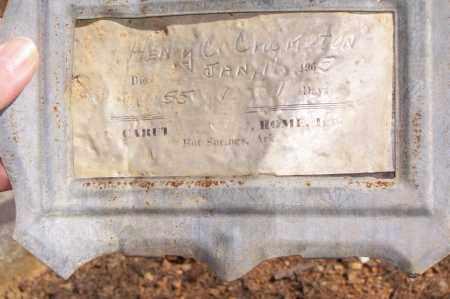 CRUMPTON, HENRY C. - Garland County, Arkansas | HENRY C. CRUMPTON - Arkansas Gravestone Photos