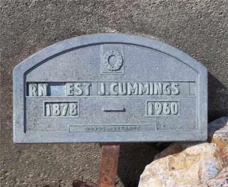 CUMMINGS, ERNEST J. - Garland County, Arkansas   ERNEST J. CUMMINGS - Arkansas Gravestone Photos