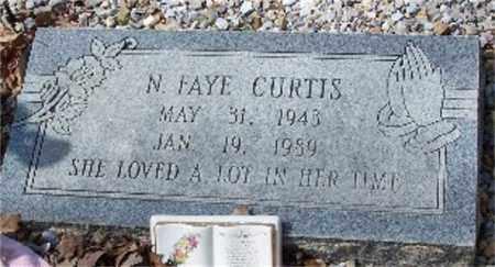 CURTIS, N. FAYE - Garland County, Arkansas   N. FAYE CURTIS - Arkansas Gravestone Photos