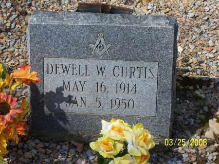 CURTIS, DEWELL W. - Garland County, Arkansas   DEWELL W. CURTIS - Arkansas Gravestone Photos