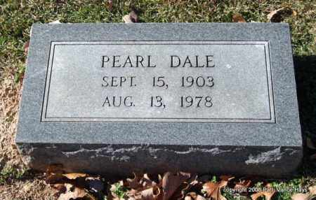 HOUPT DALE, PEARL - Garland County, Arkansas | PEARL HOUPT DALE - Arkansas Gravestone Photos