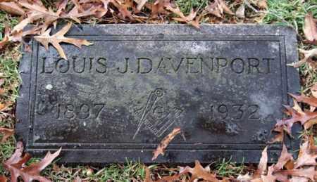 DAVENPORT, LOUIS J. - Garland County, Arkansas   LOUIS J. DAVENPORT - Arkansas Gravestone Photos