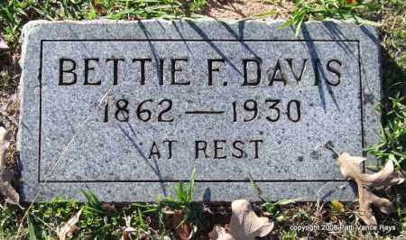 DAVIS, BETTIE F. - Garland County, Arkansas | BETTIE F. DAVIS - Arkansas Gravestone Photos