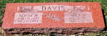 DAVIS, CLAUDE M. - Garland County, Arkansas | CLAUDE M. DAVIS - Arkansas Gravestone Photos