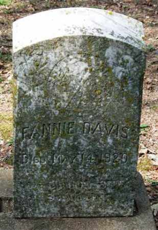 DAVIS, FANNIE - Garland County, Arkansas | FANNIE DAVIS - Arkansas Gravestone Photos