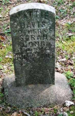 DAVIS, MATTIE - Garland County, Arkansas | MATTIE DAVIS - Arkansas Gravestone Photos