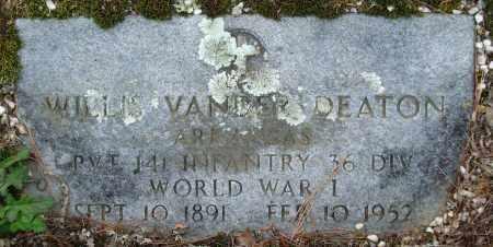 DEATON (VETERAN WWI), WILLIS VANDER - Garland County, Arkansas   WILLIS VANDER DEATON (VETERAN WWI) - Arkansas Gravestone Photos