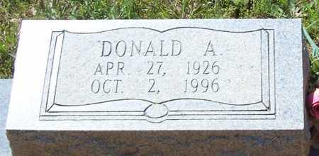 DEBUSK, DONALD A. (CLOSE UP) - Garland County, Arkansas | DONALD A. (CLOSE UP) DEBUSK - Arkansas Gravestone Photos