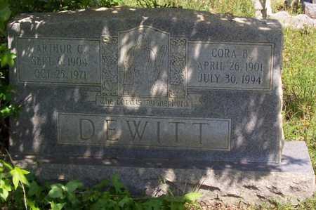 DEWITT, CORA B. - Garland County, Arkansas   CORA B. DEWITT - Arkansas Gravestone Photos