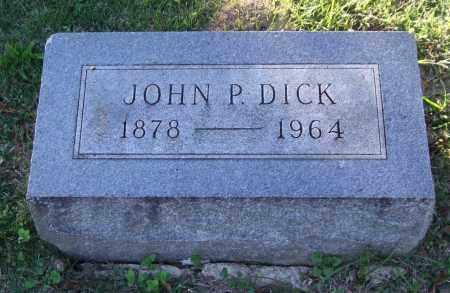 DICK, JOHN P. - Garland County, Arkansas | JOHN P. DICK - Arkansas Gravestone Photos