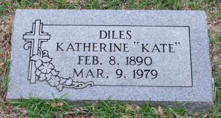"DILES, KATHERINE ""KATE"" - Garland County, Arkansas | KATHERINE ""KATE"" DILES - Arkansas Gravestone Photos"
