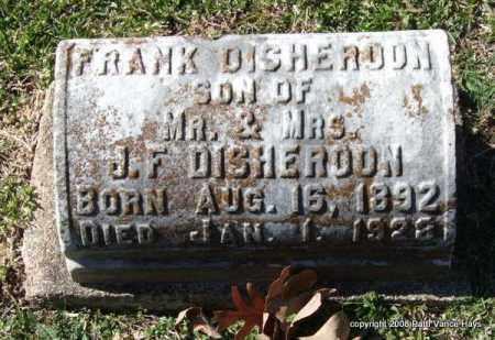 DISHEROON, FRANK - Garland County, Arkansas | FRANK DISHEROON - Arkansas Gravestone Photos