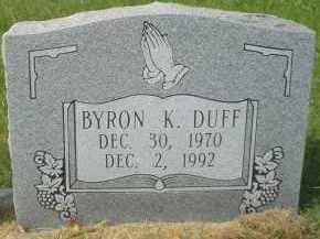 DUFF, BYRON K. - Garland County, Arkansas | BYRON K. DUFF - Arkansas Gravestone Photos