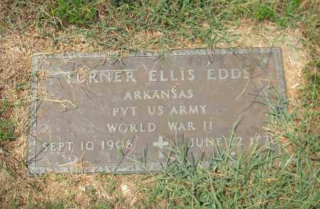 EDDS (VETERAN WWII), TURNER ELLIS - Garland County, Arkansas   TURNER ELLIS EDDS (VETERAN WWII) - Arkansas Gravestone Photos