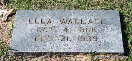 ELLA, WALLACE - Garland County, Arkansas   WALLACE ELLA - Arkansas Gravestone Photos