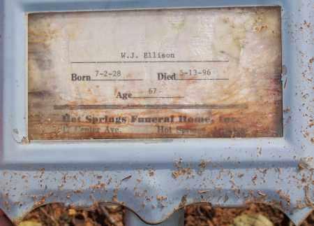 ELLISON, WILLIAM J. - Garland County, Arkansas   WILLIAM J. ELLISON - Arkansas Gravestone Photos