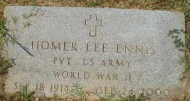 ENNIS (VETERAN WWII), HOMER LEE - Garland County, Arkansas | HOMER LEE ENNIS (VETERAN WWII) - Arkansas Gravestone Photos