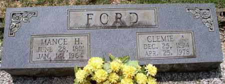 FORD, MANCE H. - Garland County, Arkansas | MANCE H. FORD - Arkansas Gravestone Photos