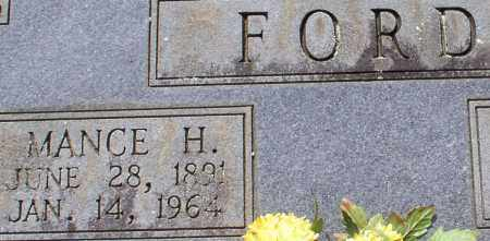 FORD, MANCE H. (CLOSE UP) - Garland County, Arkansas   MANCE H. (CLOSE UP) FORD - Arkansas Gravestone Photos