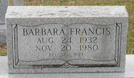 FRANCIS, BARBARA - Garland County, Arkansas | BARBARA FRANCIS - Arkansas Gravestone Photos