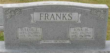 FRANKS, TULLOS L. - Garland County, Arkansas | TULLOS L. FRANKS - Arkansas Gravestone Photos
