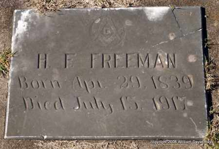 FREEMAN, H. F. - Garland County, Arkansas | H. F. FREEMAN - Arkansas Gravestone Photos