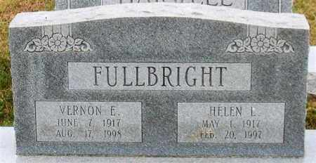 FULLBRIGHT, VERNON E. - Garland County, Arkansas | VERNON E. FULLBRIGHT - Arkansas Gravestone Photos
