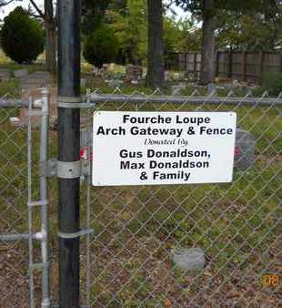 *FOURCHE LOUPE CEMETERY, SIGN - Garland County, Arkansas | SIGN *FOURCHE LOUPE CEMETERY - Arkansas Gravestone Photos