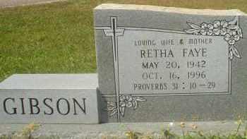 GIBSON, RETHA FAYE - Garland County, Arkansas | RETHA FAYE GIBSON - Arkansas Gravestone Photos