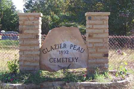 *GLAZIER PEAU CEMETERY, SIGN & DIRECTIONS - Garland County, Arkansas | SIGN & DIRECTIONS *GLAZIER PEAU CEMETERY - Arkansas Gravestone Photos