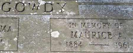GOWDY, MAURICE A. (CLOSE UP) - Garland County, Arkansas | MAURICE A. (CLOSE UP) GOWDY - Arkansas Gravestone Photos