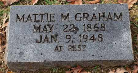 GRAHAM, MATTIE M. - Garland County, Arkansas   MATTIE M. GRAHAM - Arkansas Gravestone Photos