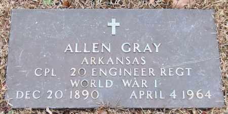 GRAY (VETERAN WWI), ALLEN - Garland County, Arkansas   ALLEN GRAY (VETERAN WWI) - Arkansas Gravestone Photos
