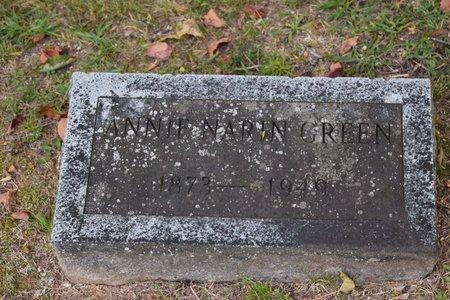 GREEN, ANNIE - Garland County, Arkansas   ANNIE GREEN - Arkansas Gravestone Photos
