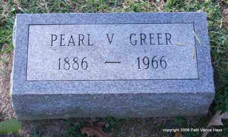 GREER, PEARL V. - Garland County, Arkansas | PEARL V. GREER - Arkansas Gravestone Photos
