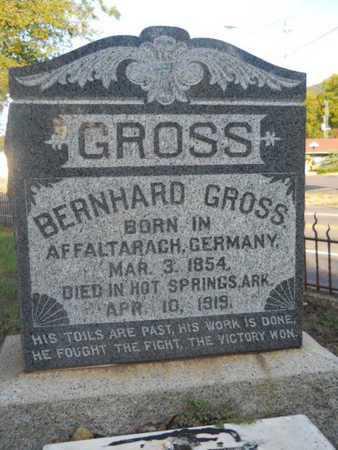 GROSS, BERNHARD - Garland County, Arkansas | BERNHARD GROSS - Arkansas Gravestone Photos