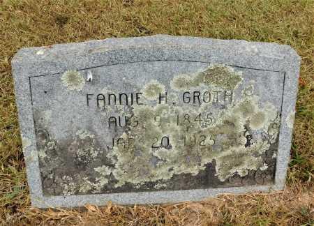 GROTH, FANNIE H. - Garland County, Arkansas | FANNIE H. GROTH - Arkansas Gravestone Photos