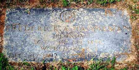 HANNEMAN (VETERAN WWI), FREDERICK A - Garland County, Arkansas   FREDERICK A HANNEMAN (VETERAN WWI) - Arkansas Gravestone Photos