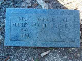 HARDIN, INFANT DAUGHTER - Garland County, Arkansas | INFANT DAUGHTER HARDIN - Arkansas Gravestone Photos