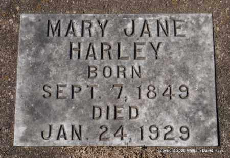 HARLEY, MARY JANE - Garland County, Arkansas | MARY JANE HARLEY - Arkansas Gravestone Photos