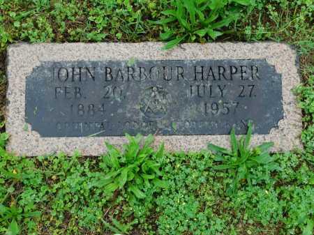 HARPER, JOHN BARBOUR - Garland County, Arkansas   JOHN BARBOUR HARPER - Arkansas Gravestone Photos