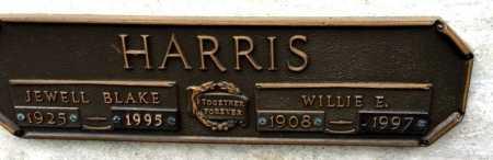 HARRIS, WILLIE E - Garland County, Arkansas   WILLIE E HARRIS - Arkansas Gravestone Photos