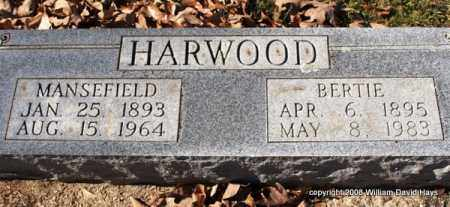 HARWOOD, MANSEFIELD - Garland County, Arkansas | MANSEFIELD HARWOOD - Arkansas Gravestone Photos