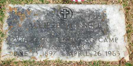 HASSELL (VETERAN WWI), ALLIE B. - Garland County, Arkansas | ALLIE B. HASSELL (VETERAN WWI) - Arkansas Gravestone Photos