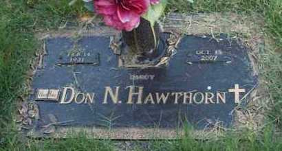 HAWTHORN, DON N - Garland County, Arkansas | DON N HAWTHORN - Arkansas Gravestone Photos