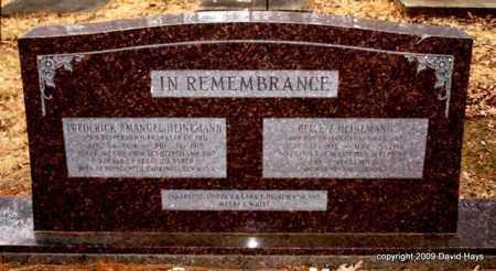 HEINEMANN, FREDERICK EMANUEL - Garland County, Arkansas | FREDERICK EMANUEL HEINEMANN - Arkansas Gravestone Photos