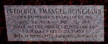 HEINEMANN, FREDERICK EMANUEL (CLOSE UP) - Garland County, Arkansas | FREDERICK EMANUEL (CLOSE UP) HEINEMANN - Arkansas Gravestone Photos