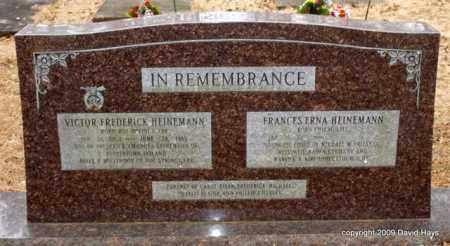 HEINEMANN, VICTOR FREDERICK - Garland County, Arkansas | VICTOR FREDERICK HEINEMANN - Arkansas Gravestone Photos