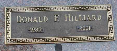 HILLIARD, DONALD F. - Garland County, Arkansas | DONALD F. HILLIARD - Arkansas Gravestone Photos
