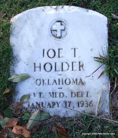 HOLDER (VETERAN), JOE T. - Garland County, Arkansas | JOE T. HOLDER (VETERAN) - Arkansas Gravestone Photos